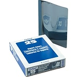 Oxford Clear Front Report Covers, Dark Blue, 8 1/2 x 11, 25/Bx