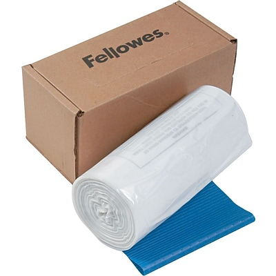 Fellowes® Waste Bags for Fellowes®® 125/225/2250 Series Shredders, 50/Box