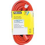 Fellowes® Heavy Duty Indoor/Outdoor Extension Cord, 50 Long, Orange