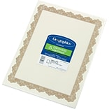 Geographics® Optima Printable Certificate With Seals; 8 1/2x11, 25/Pack, Gold