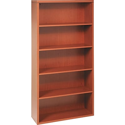 HON® 11500 Series Valido™ Office Collection in Bourbon Cherry, 5-Shelf Bookcase