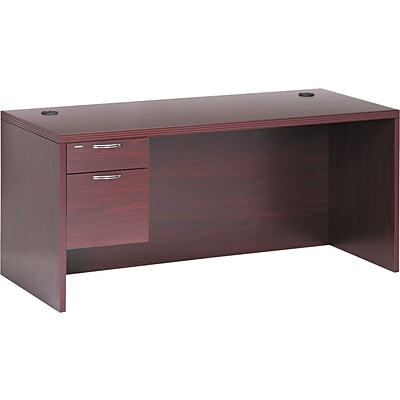 HON® 11500 Series Valido™ Office Collection in Mahogany, Single Left Pedestal Desk, 66Wx30D
