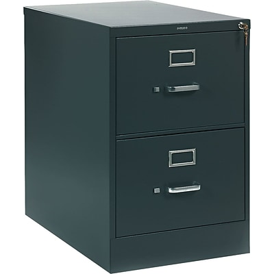 HON® 310 Series Vertical File Cabinet, Legal, 2-Drawer, Charcoal, 26 1/2D