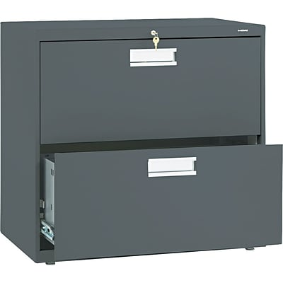 HON® Brigade® 600 Series Lateral Files; 2-Drawer, 30 Wide, Charcoal