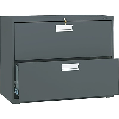 HON® Brigade® 600 Series Lateral Files; 2-Drawer, 36 Wide, Charcoal