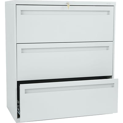 HON® 700 Series Lateral Files, 3-Drawer, 40-7/8Hx36W, Light Grey