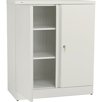 basyx™ by HON® Easy-to-Assemble 42 High, 3- Shelf Storage Cabinet, Putty