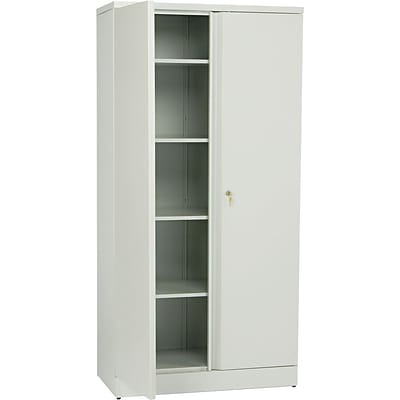 basyx™ by HON® Easy-to-Assemble 72 High, 5- Shelf Storage Cabinet, Light Gray