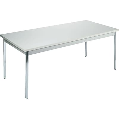 HON® Utility Table, Grey/Grey, 36x72