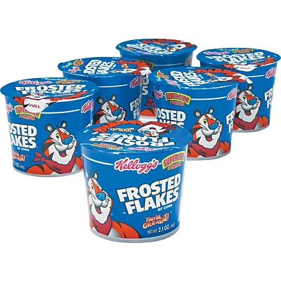 Kelloggs® Breakfast Cereals, Frosted Flakes®, 2.1-oz., 6/Box