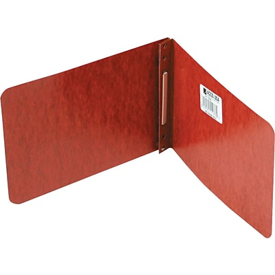 ACCO Pressboard Report Cover Side Bound, Red, 2 3/4 centers, Specialty size 5 1/2 x 8 1/2
