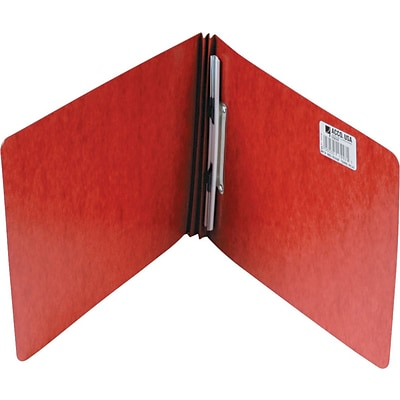 ACCO Pressboard Report Cover with Spring-Style Fastener, Earth Red, 8 1/2 x 11