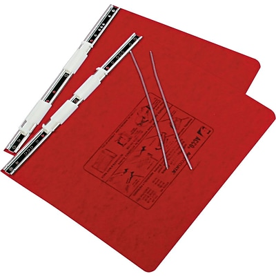 ACCO PRESSTEX® Covers with Storage Hooks Data Binder, Executive Red, 12 x 8 1/2, 6 (Ring Diameter)