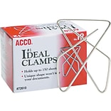 ACCO® Ideal Paper Clamp (Butterfly Clamp), Size #1 (Large), 12/Box