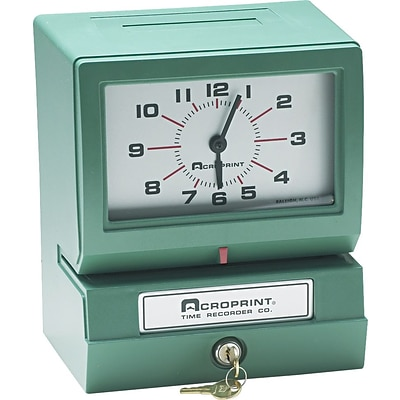 Acroprint Model 150 Analog Automatic Print Time Clock