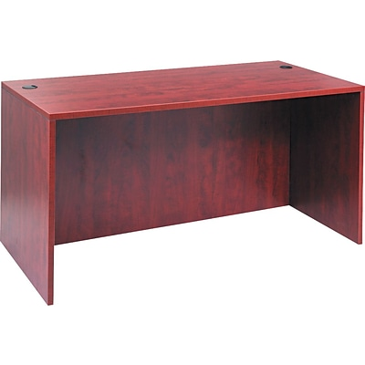 Alera™ Valencia Series Executive Suites in Medium Cherry, Straight Front Desk Shell, 60W