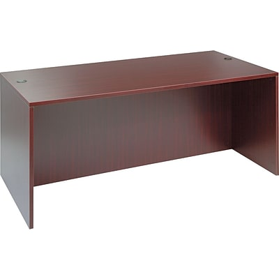 Alera™ Valencia Series Executive Suites in Mahogany, Straight Front Desk Shells, 72W