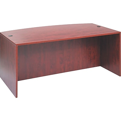 Alera™ Valencia Series Executive Suites in Medium Cherry, Bow Front Desk Shell
