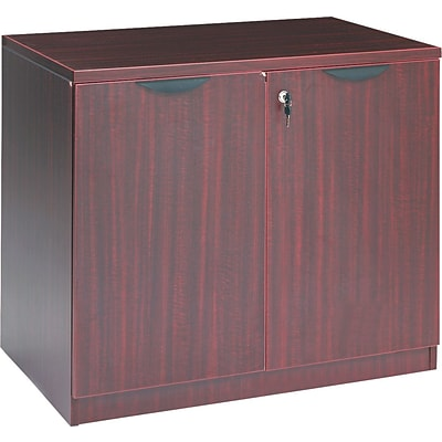 Alera® Valencia Series Executive Suites 1-Drawer Lateral File Cabinet, Mahogany, Legal (VA613622MY)
