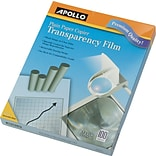 Apollo® Copier Transparency Film With Removable Sensing Stripe, Clear, 8 1/2(W) x 11(H)