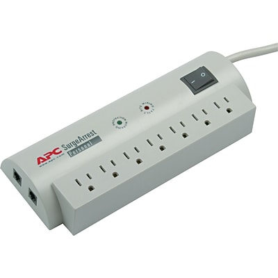APC SurgeArrest Professional 7 Outlet 1060 Joules Surge Protector With 6 Feet Cord (PER7T)