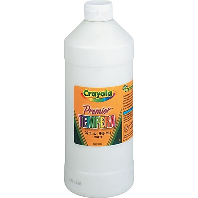 Binney & Smith Crayola® Premier Tempera Paint, White, 32 oz.