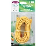 Belkin 14 RJ45 Cat-5E Yellow Patch Cables