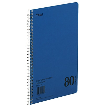 Mead® Spiral® 1-Subject Wirebound Notebook, 6 x 9 1/2