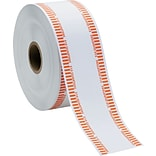 MMF Industries Automatic Paper Coin Wrapper, Holds 40 Quarters, White/Orange, Approx. 1,900/Roll