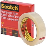 Scotch® Transparent Tape; 1 x 2592, 3 Core, 1/Pack