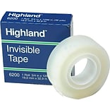 3M™ Highland™ 3/4x1296 Transparent Tape