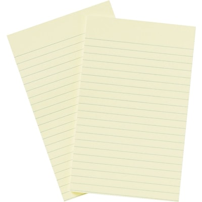 Post-it® Notes, 5 x 8, Canary Yellow, Lined, 2 Pads/Pack (663-YW)