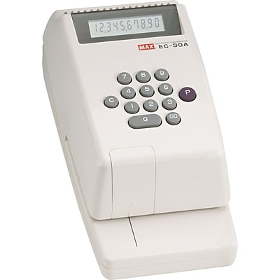 Max® EC30A Electronic Check Writer