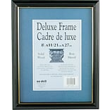 NuDell™ Gold Trim Deluxe Document Frame, Black, 8 1/2 x 11