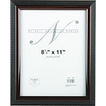 NuDell™ Executive Frame, Black with Mahogany Border, 8 1/2 x 11