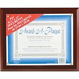 Nu-Dell® Award-A-Plaque, Document Holder, Mahogany Frame Finish (18813M)