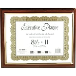 NuDell™ Prestige Executive Award Plaque, Walnut, 13 x 10 1/2 Overall Dimension (NUD18851M)