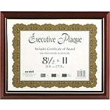 NuDell™ Prestige Executive Award Plaque, Mahogany, 13 x 10 1/2 (NUD18853M)