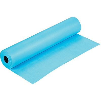 Pacon Rainbow Duo-Finish Colored Kraft Paper, 40 lb., Sky Blue, 36 x 1000