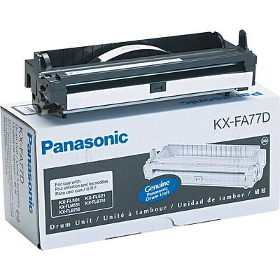 Panasonic® #KXFA77D Laser Drum, Black