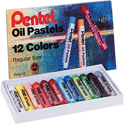 Pentel® Oil Pastel Set With Carrying Case, Assorted, 12/Set