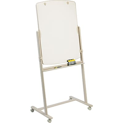 Quartet® Reversible Total Erase® Mobile Easel, Whiteboard Grid, 31 x 41