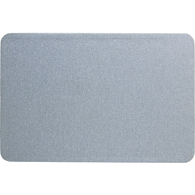Quartet® Oval Office™ Fabric Bulletin Board, 3 x 2, Frameless, Gray
