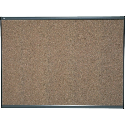 Quartet® Prestige® Colored Cork Bulletin Board, 4 x 3, Graphite Finish Frame