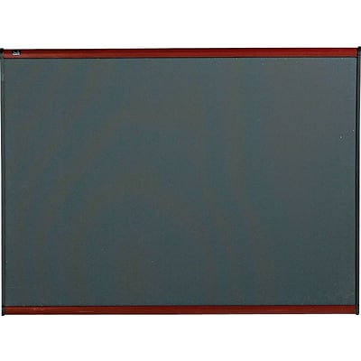 Quartet® Prestige® Diamond Mesh Fabric Bulletin Board, 4 x 3, Mahogany