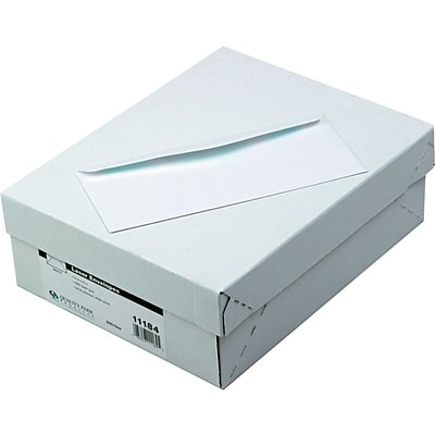 Quality Park Gummed Laser / Ink Jet #10 Envelopes, 4 1/8 x 9 1/2, White , 500/Bx