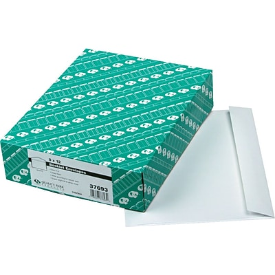 Quality Park Products® 9 x 12 White 28 lbs. Gummed Booklet Envelopes, 100/Box