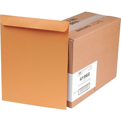 Quality Park Gummed Open-End Catalog Envelopes, 12 x 15 1/2, Brown, 250/Ct (41965)