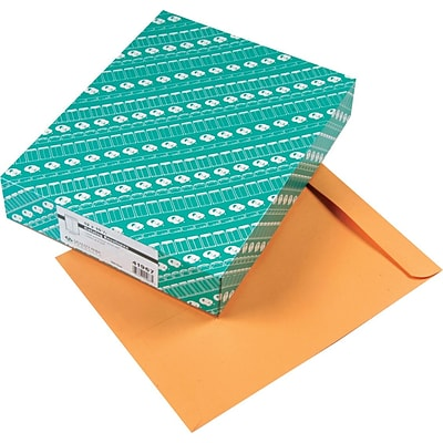 Quality Park Gummed Open-End Catalog Envelopes, 12 x 15 1/2, Brown, 100/Bx (QUA41967)