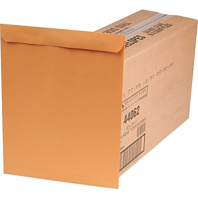 Quality Park Redi-Seal™ Self-Seal Open-End Catalog Envelopes, 12 x 15, Brown, 250/Ct (44062)